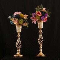 Gold Metal Flower Vase Wedding Table Centerpieces 10 pcs/lot