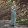 Amazing Maternity Evening Dress for Pregnant Woman with Beading Short Sleeves Formal Evening Gown Prom Dresses vestido longo