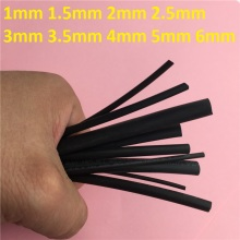 1 Meter/lot 2:1 Black 1mm 1.5mm 2mm 2.5mm 3mm 3.5mm 4mm 5mm 6mm Heat Shrink L48-56 Heatshrink Tubing Tube Sleeving Wrap Wire