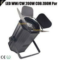 COB LED Theatre Zoom 200w Spot Light Cuboid Case Housing Par Can with Barn door Adjustable 11~60 Degree Beam Wedding Blinder Par