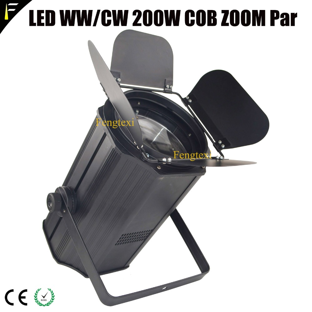 Alert Cob Led Theatre Zoom 200w Spot Light Cuboid Case Housing Par Can With Barn Door Adjustable 11~60 Degree Beam Wedding Blinder Par Reasonable Price