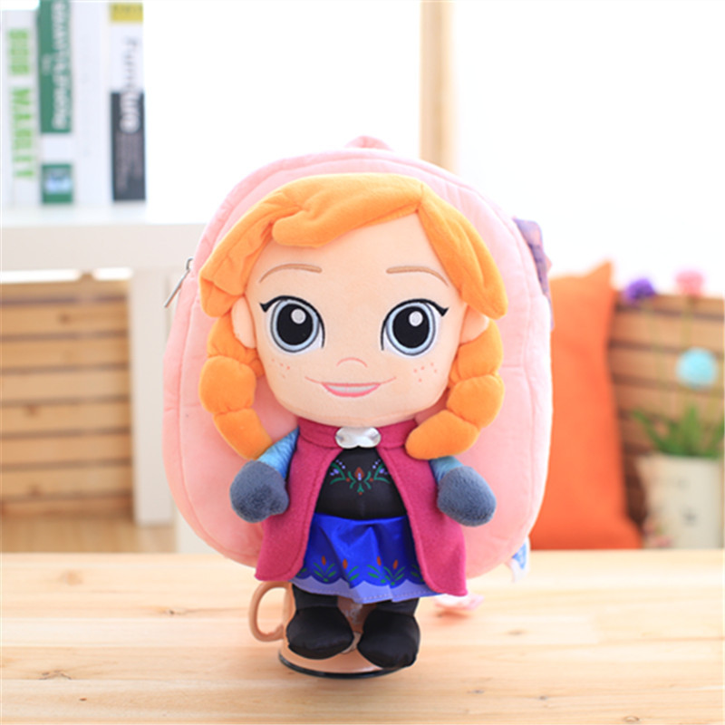 Disney Genuine Winter Romance Backpack Anna Aisha Snow Po Child Backpack Holiday Gift Toys For Children
