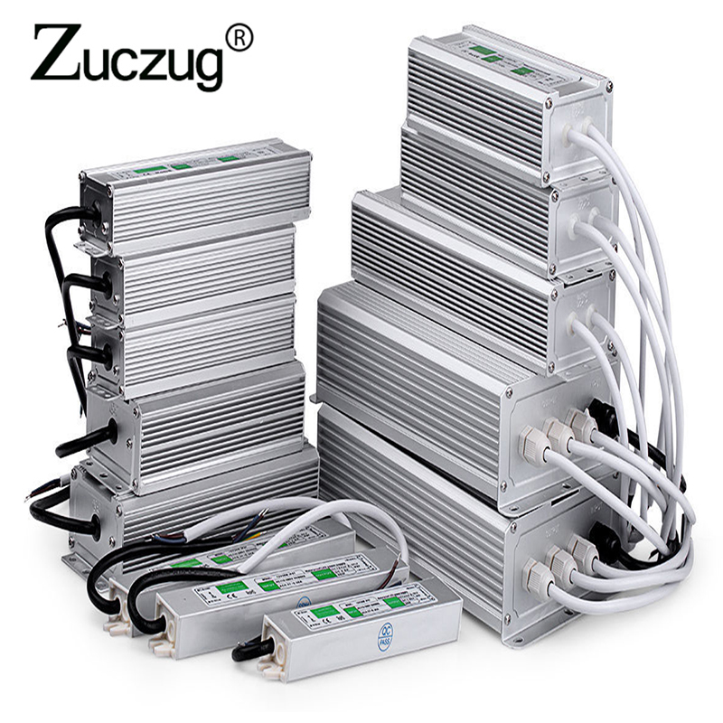 AC 110V-220V to DC 12V Power Supply 10W 20W 30W 50W 80W IP67 outdoor Waterproof 12 24 v volt Transformer Electronic led Driver 1x3w electronic led driver power supply transformer 110v 220v 2v 4v 600ma