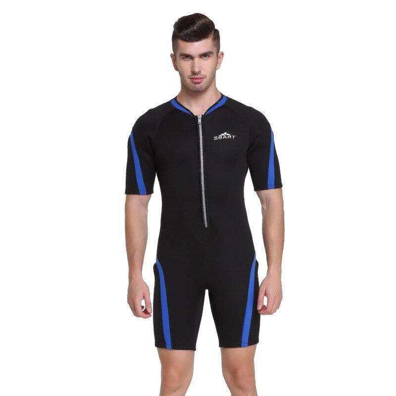 Sbart 2mm néoprène combinaisons hommes plongée sous-marine complet costumes à manches courtes homme plongée costume surf voile natation une pièce DBE - 2