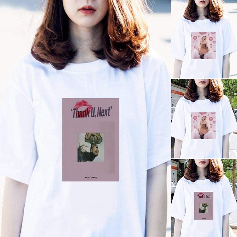 Women Clothes 2019 Summer New Ariana Grande T Shirt Fashion Hipster Tshirt Leisure Harajuku Aesthetic Streetwear Women T-shirt