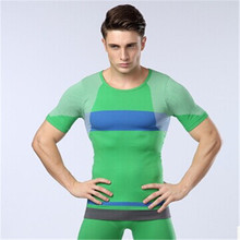 Hit Color Tight-fitting Short-sleeved  Gently Press Comfortpure Color Seamless Underwear Clothing  Undershirt