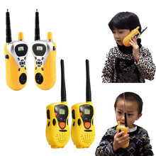2pcs Intercom Kids Electronic Walkie Talkies Toys Portable Two-Way Radio Interactive Battery Operated Toy