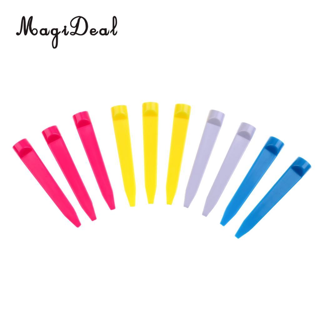 MagiDeal 10Pcs Durable Plastic Wedge Golf Tees 74mm/2.9inch Random Color - Golfer Training Kit