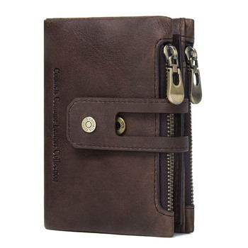 Genuine Leather Short Wallet Bags and Wallets Best Seller Hot Promotions Women's Wallets Color: Coffee Ships From: China