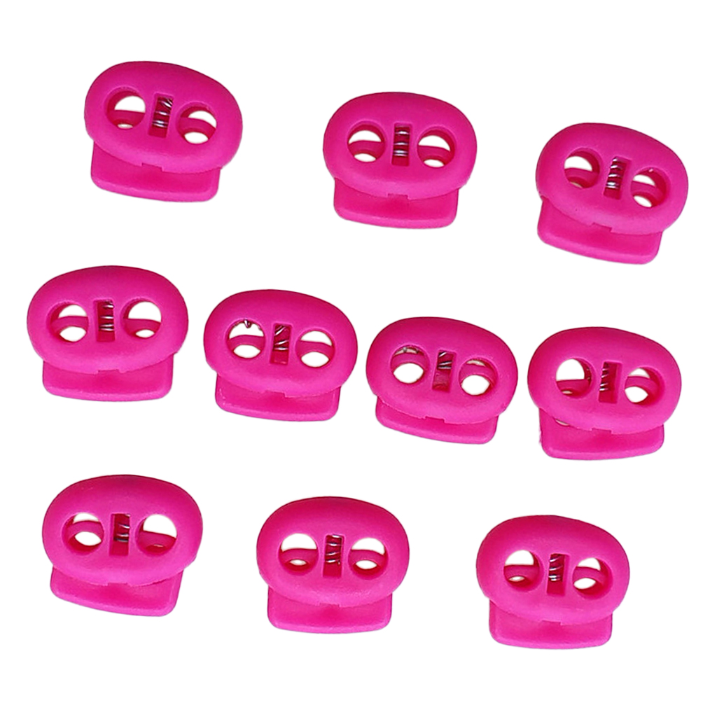 10pcs Shock Cord Lock End Stop Fastener Stopper for 5mm Bungee Rope Pink