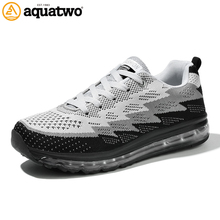 AQUA TWO Outdoor Sports Men Running Shoes For Men Air mesh Walking Sneakers Durable Lace-up Breathable Athletic Shoes TF-833