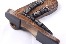 Et femmes GETA Japonais SAMURAI Sabots Bois Sandales Unsex sabots chaussures plat bois talon carré chaussures à bout de planche d'été sandales