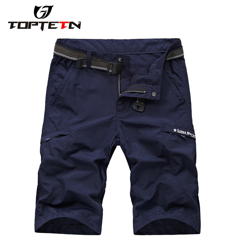 TOPTETN Baggy Shorts MTB Bike Bicycle Shorts Breathable Loose Fit Outdoor Sports Cycling Shorts With Zippered Pockets