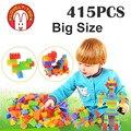Preciosas También bloques de construcción 415 UNIDS ladrillo Bebé Juego juguetes educativos para niños Regalos de Año Nuevo