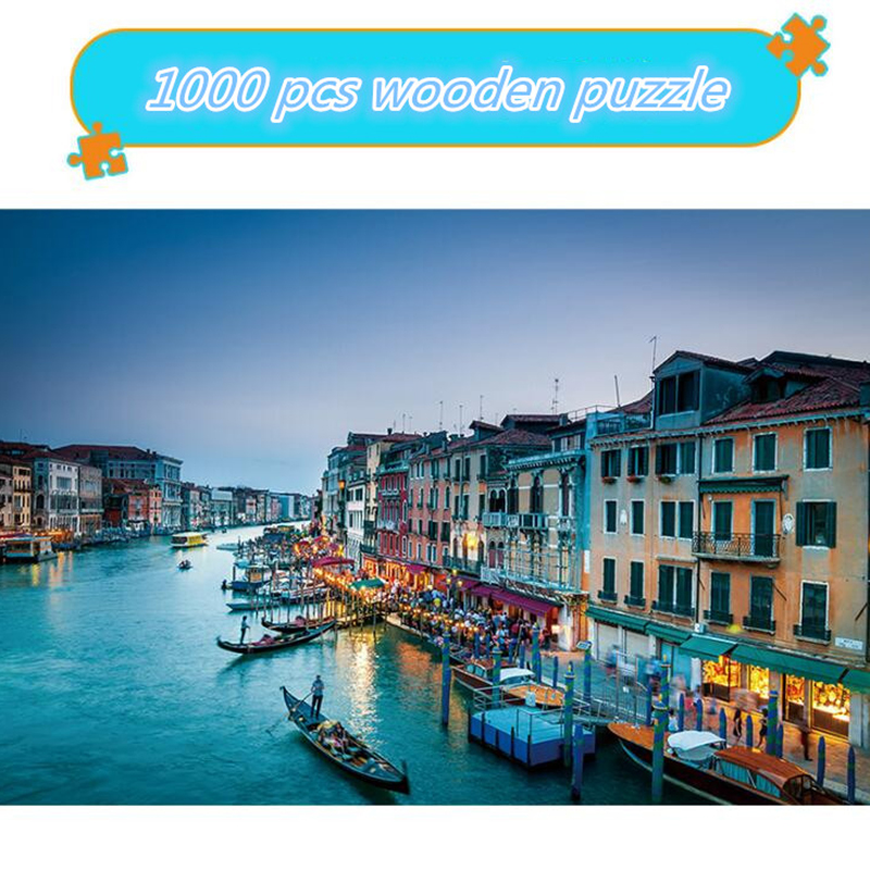 Landscape Puzzle 1000 Pieces Adult Puzzle Wooden Puzzle Cartoon Jigsaw Puzzles For Children Educational Toys Gifts Wooden Toys