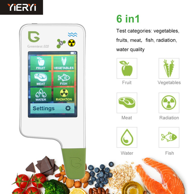 Portable nitrate water and radiation detector for Food, Meat, Fish Nitrate Tester, water TDS, Radiation Detector/ Health Care