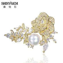 Vintage Retro Crystal Flower Brooches Rhinestone Brosche For Women Wedding Crystal Broches Brosche Lapel Pins Christmas Gift