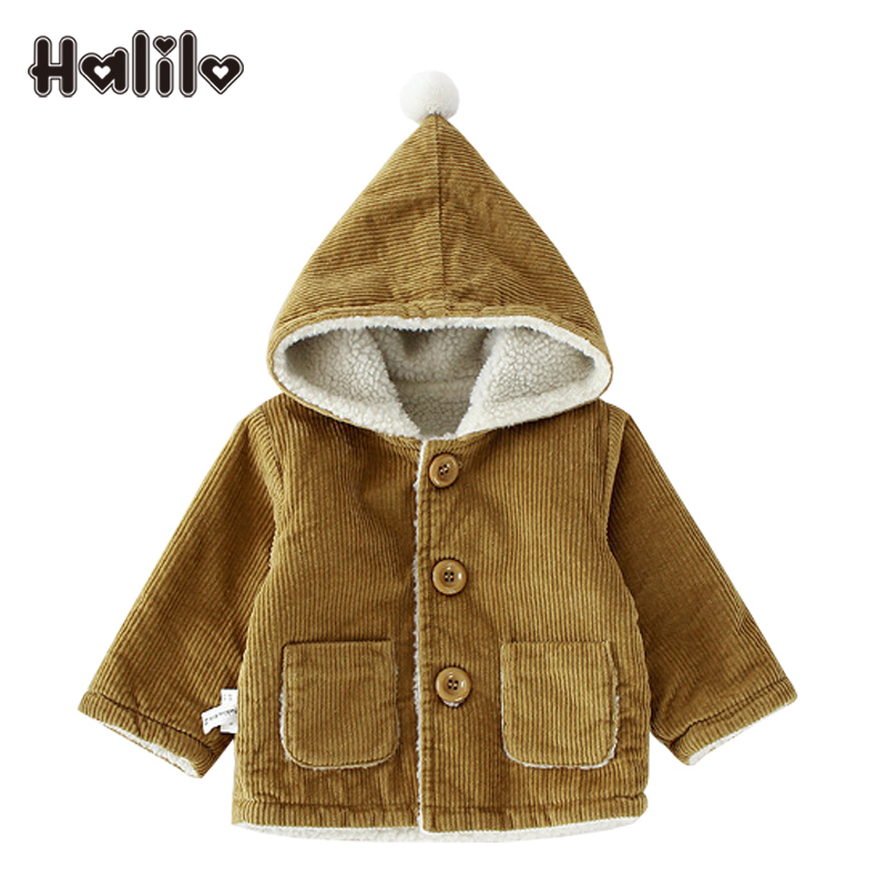 b16ca24c1 Halilo Baby Girl Outerwear Autumn Winter Plus Velvet Baby Coat ...