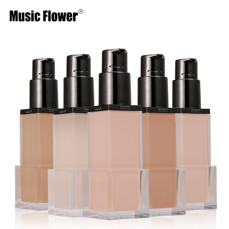 Music Flower Brand 42ml 6 Color Makeup Foundation Liquid BB Cream Concealer Face Make Up Base Natural Nourish Moisturizer Skin