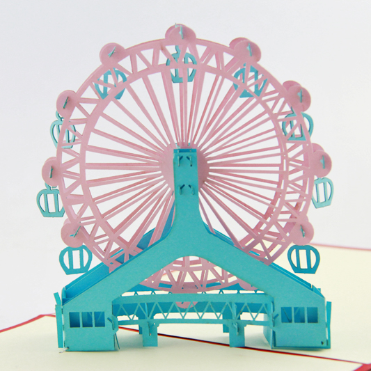 Ferris Wheel Pop up card 3D card ferris music card spiral pop up musical notes 3d card music instruments pop up card bday pop up card