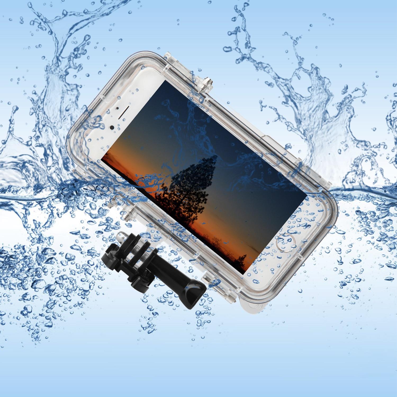 bilder für Besegad Outdoor Sports Wasserdichte Hülle Shell für iPhone 6 6 S 6 S 4,7 Zoll Gopro Go Pro mit 170 Kamera objektiv