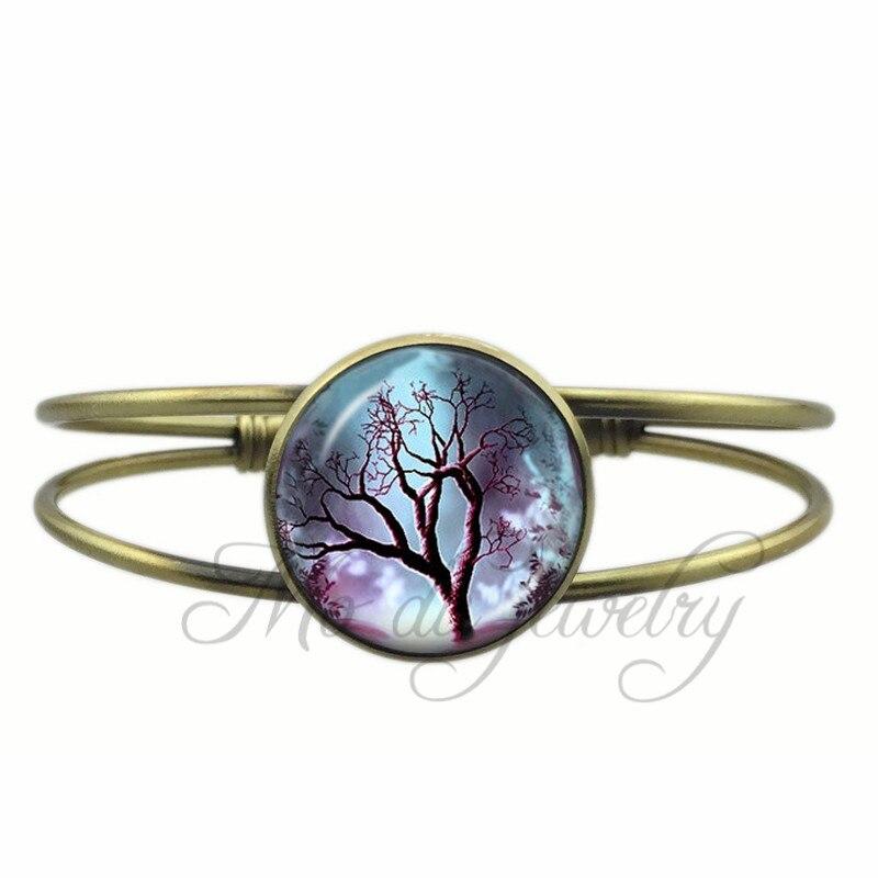 ▻Vintage Árbol de la vida joyería abierta del brazalete del Pun ¢ o ...
