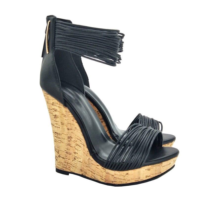 Haut Noir Femmes 45 Gratuite Fghgf De Cm Et Sandales Chaussures Livraison 13 34 Taille Compensées Talon Nouvelles Sandales Ruban IwwUC7fzq