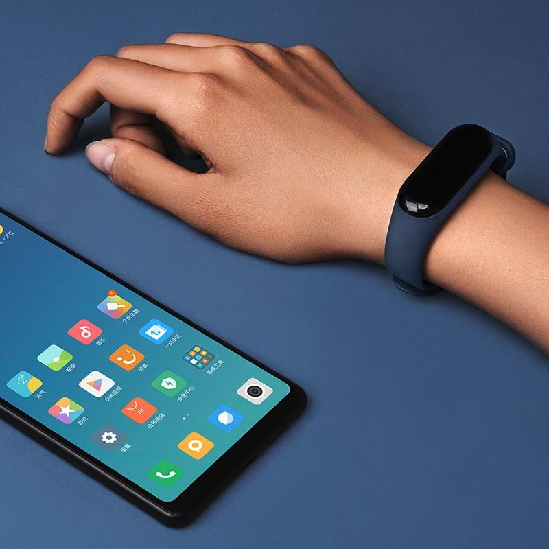 Bracelet Smart Xiaomi Mi Band 3 Miband 3 OLED écran tactile 0.78 pouce afficheur de message prévision météo tracker pour le fitness Xiaomi Band 3 - 4