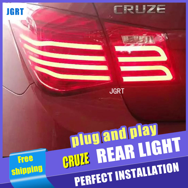 Car Styling for Chevrolet Cruze Taillights New Cruze Sedan LED Tail Light GLK LED Rear Lamp DRL+Brake+Park+Signal