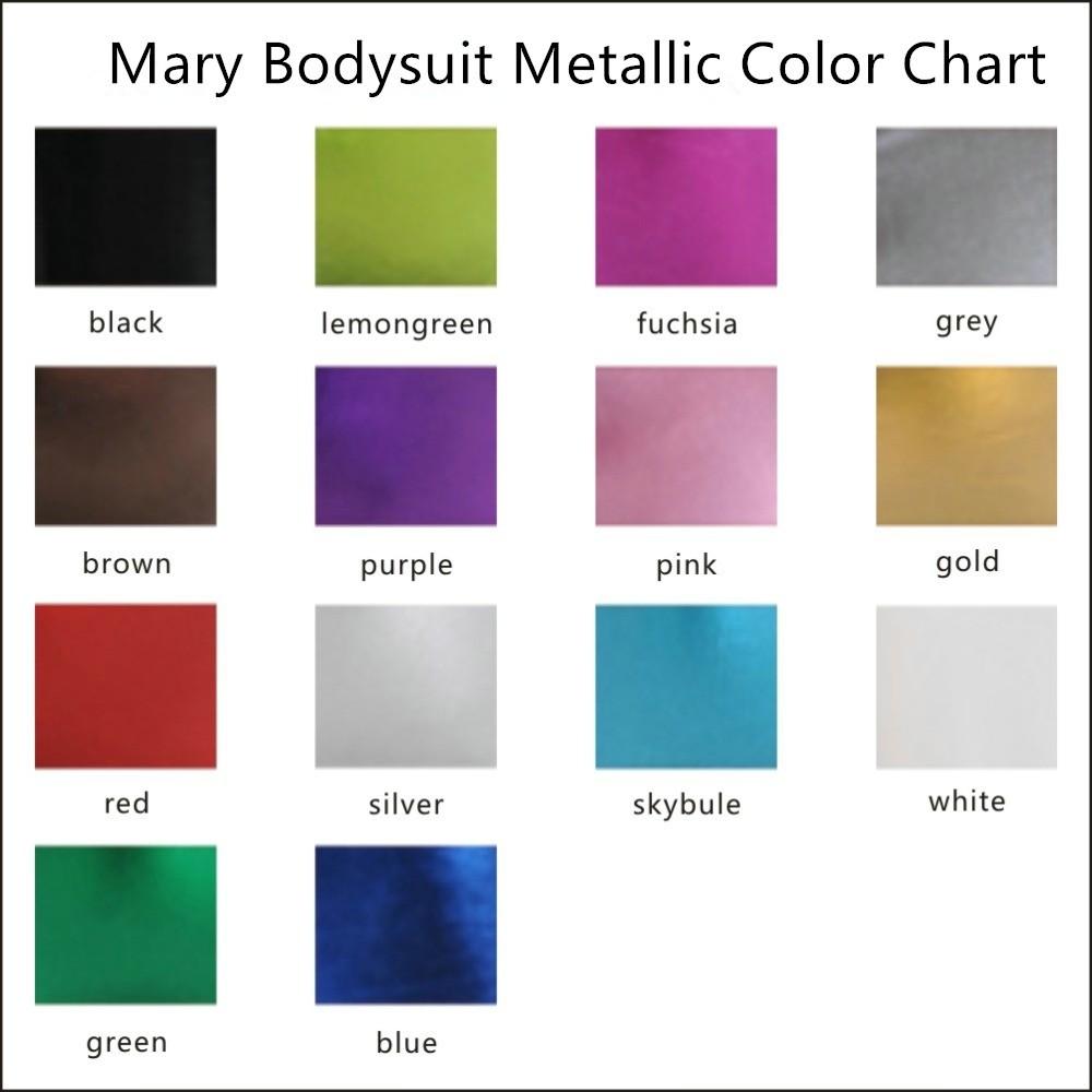 Mary Bodysuit Metallic color chart
