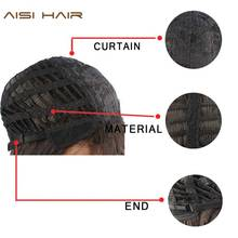 I's a wig  Bob Style Straight Ombre Synthetic Wigs for Women Dark and Blue Color None Lace Wig With Heat Resistant