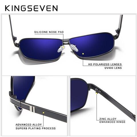 KINGSEVEN DESIGN Men Classic Sunglasses Aviation Frame Polarized Sunglasses For Men Driving UV400 Protection N7855 Karachi