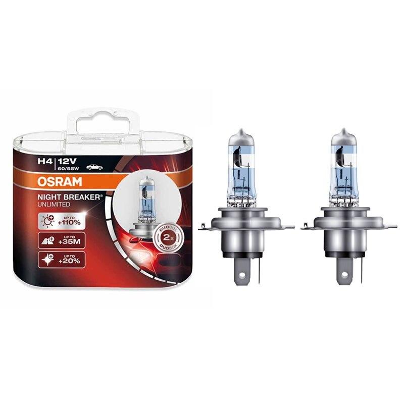 OSRAM NIGHT BREAKER UNBEGRENZTE Auto Scheinwerfer Lampen Super Helle Upgrade Lampen Hallo/lo Strahl 12 v H1 H4 H7 h11 9005 9006