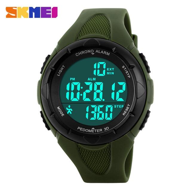 Skmei Brand Sports Fitness Pedometer LED Digital Watch Men Boy's Girls Sports Watches Outdoor Wristwatches