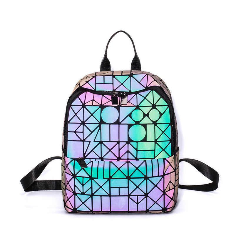 Рюкзак в форме бриллианта Мода 2018 г. рюкзак с отражающими вставками для женщин геометрический сзади Сумки Женский Bckpack школьная сумка для девочки Mochila дропшиппинг