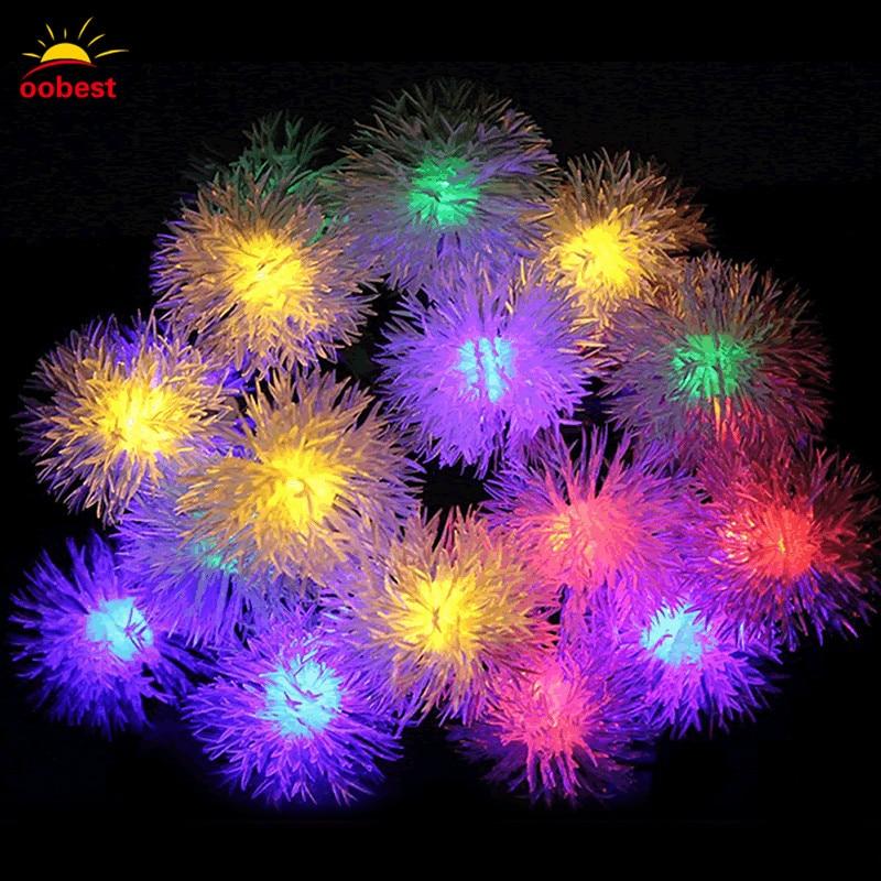 Oobest Chrismas 3/4M 30/40 LED Fairy String Lights Round Snowflake LED Lantern Light String Holiday Decoration