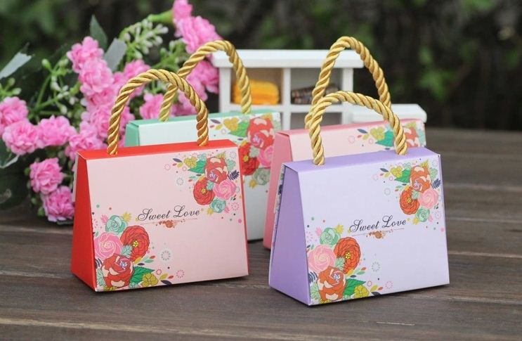 2015 New Arrival Mode Handbag Wedding Favor Boxes Baby Birth Party