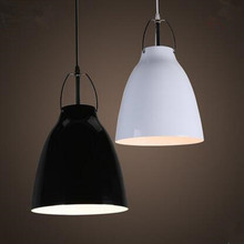 Modern lamps aluminum pendant lights black/white Wind chimes LED indoor lighting fixture Cecilie manz design