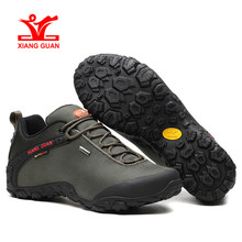 Xiang Guan Hiking Shoes Mens Waterproof Sport Trekking Boots Anti-slip Black Mountain Climbing Shoes Women Outdoor Sneakers  цена и фото