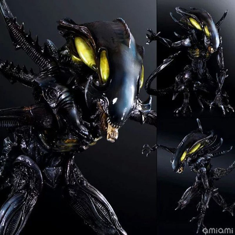 Alien Warrior Action Figure Playarts Kai Collection Model Anime Toy Movie Play Arts 270mm free shipping devil may cry 3 action figure toys playarts kai anime toy movie dante play arts kai 25cm collection model