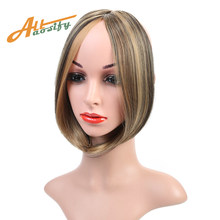 "Allaosify Long 9"" Bangs Girls Side Bangs Fake Fringe Synthetic Clip in Hair Extensions Brown(China)"