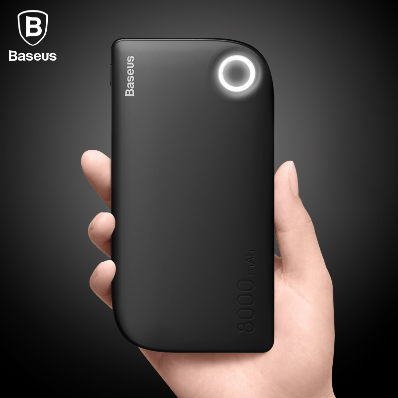 baseus 8000mah power bank dual usb quick charge portable phone charger external battery for. Black Bedroom Furniture Sets. Home Design Ideas