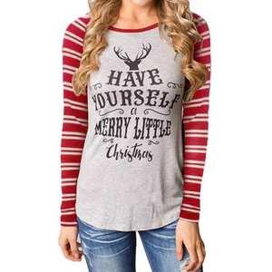 f77d1018 feitong Women's Plus Size Long Sleeve Blouse Tops shirt