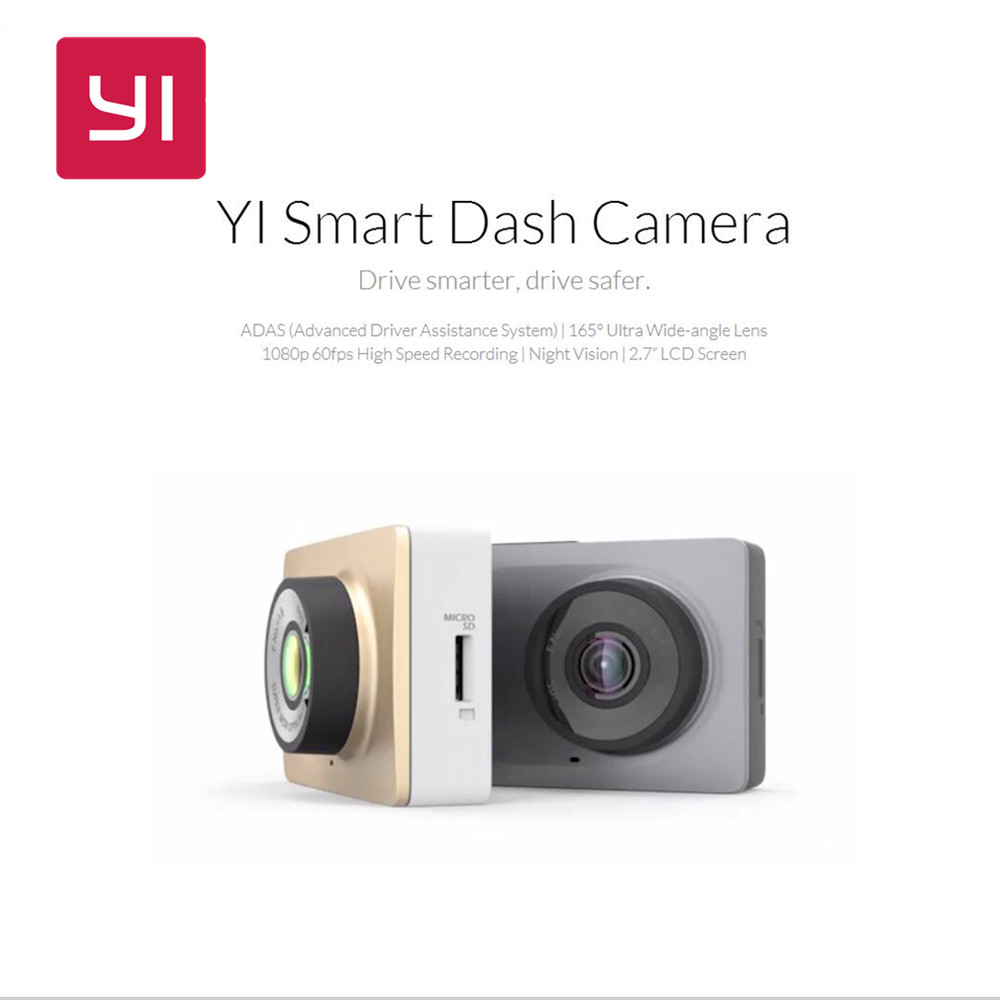 "YI Smart Dash Camera WiFi Car DVR Night Vision HD 1080P 2.7"" 165 Degr"