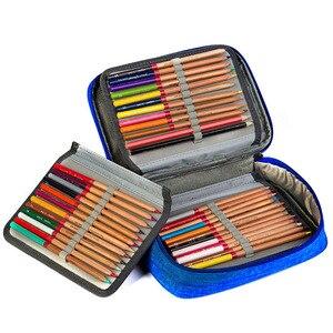 Image 4 - Na płótnie piórniki szkolne dla dziewczyny chłopiec piórnik 72 otwory pudełko na długopis kary wielofunkcyjna torba do przechowywania przypadku Pencill torba hurtownia