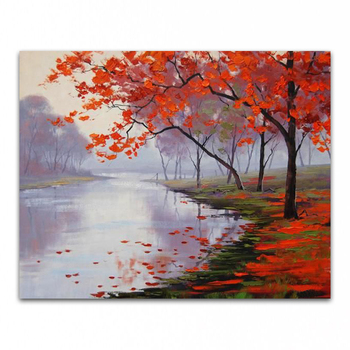 DONGMEI OIL PAINTING hand painted oil painting high quality landscape art painting pictures    DM-15101103