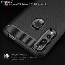 Coque pour Huawei Y9 Prime 2019 coque antichoc pare chocs en Fiber de carbone housse pour Huawei Y9 Prime 2019 housse Y9 Prime 2019 Fundas