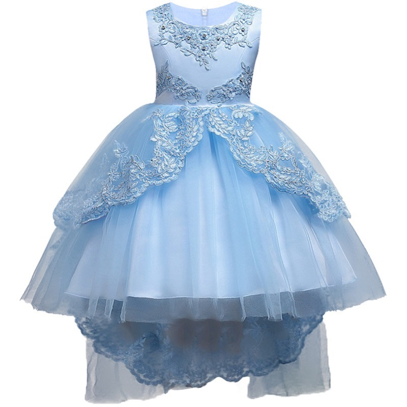 Hot Summer Flower Girls Dress For Wedding And Party Infant Princess Girl Dresses Toddler Costume Baby Kids Girls Clothes red blue kids dresses for girls long sleeve princess dress girls clothes flower bow decortion baby infant girl dress cheep price