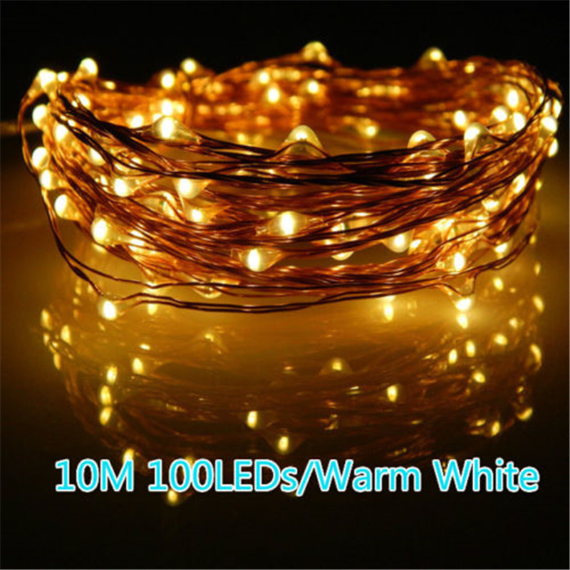 High Bright Copper Wire LED String Light Wedding Decoration Outdoor Lighting Strings 10M Waterproof Fairy Lights For Christmas