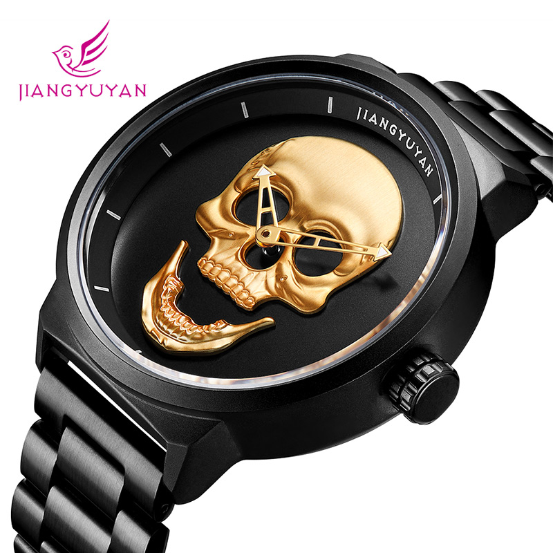 Reloj para hombre JIANGYUYAN Luxury Brand reloj creativo de acero - Relojes para hombres - foto 2